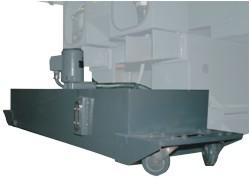 Станок F100 CNC: мобильный бак для сбора СОЖ