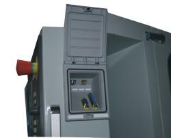 Станок F100 TC-CNC: разъемы Ethernet, USB, RS 232