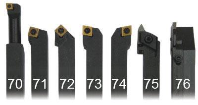 Набор токарных резцов 7 шт. 16 мм.