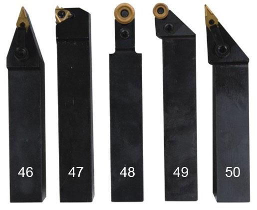 Набор токарных резцов 5 шт. 25 мм.