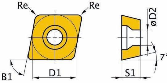 Сменная твердосплавная пластина CCMT09T304