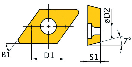 Сменная твердосплавная пластина DCMT070204