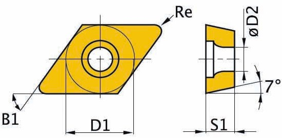 Сменная твердосплавная пластина DCMT11T304