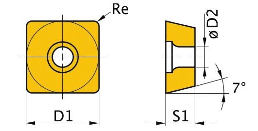 Сменная твердосплавная пластина SCMT060204