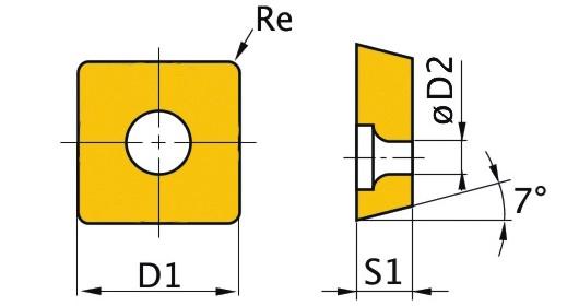 Сменная твердосплавная пластина SNMG090304