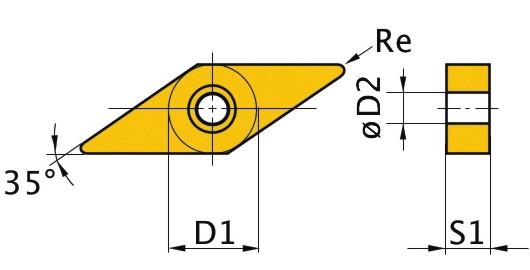 Сменная твердосплавная пластина VNMG160408