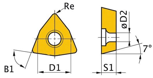 Сменная твердосплавная пластина WCMT050308