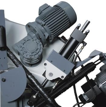 Ленточнопильный станок Opti S350AV: редуктор привода