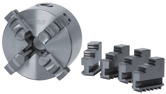 Четырехкулачковый токарный патрон Optimum Ø 125 mm