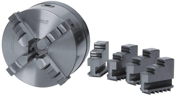 "Четырехкулачковый токарный патрон Optimum Ø 250 mm Camlock D1 - 6"""